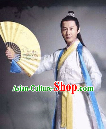 China Classical Fan Dancing Costumes for Men