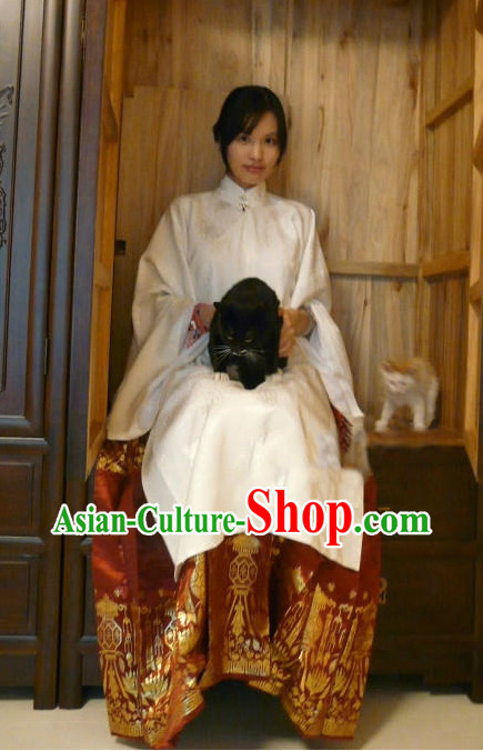 China Classical White Fairy Lady Costumes