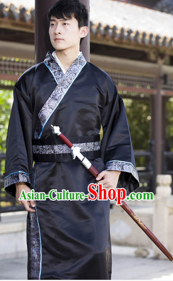 China Classic Black Hanfu Dresses for Men