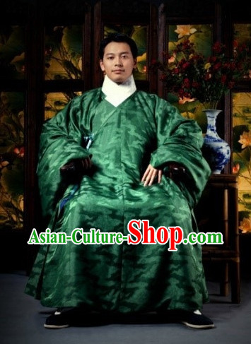 China Classical Ming Dynasty Hanfu Garment for Men