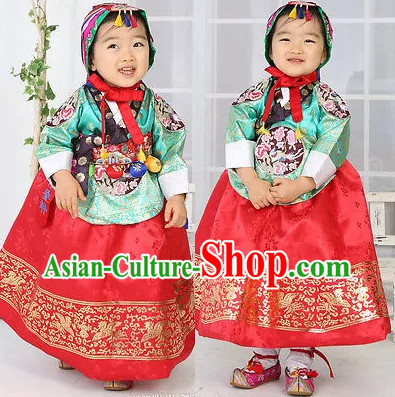 Asian Fashion online Korean Hanboks for Kids