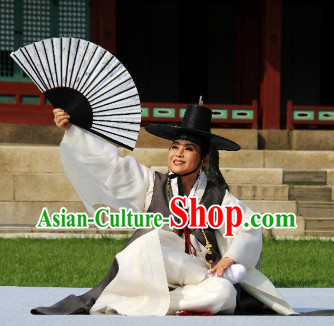 Korean Palace Costumes and Hat for Men