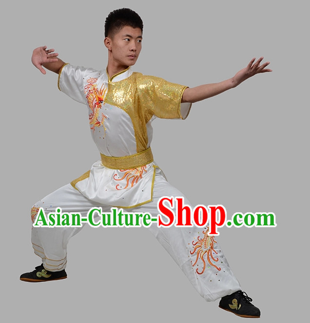 Top Dragon Embroidered Martial Arts Uniforms Complete Set