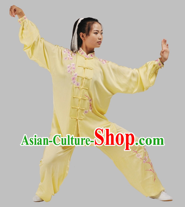 Top Plum Blossom Embroidery Martial Arts Uniforms Complete Set