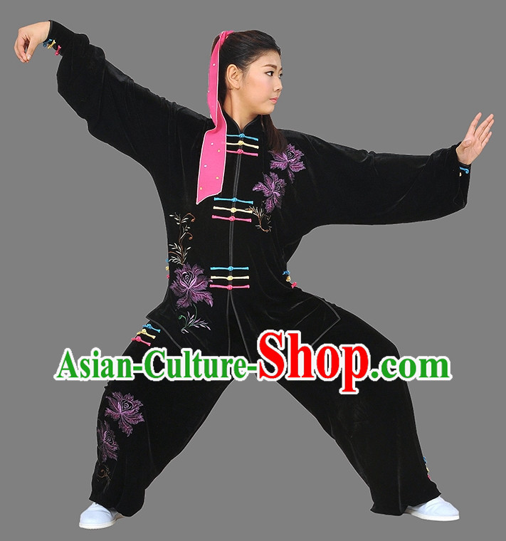Black Top Martial Arts Competition Costumes Complete Set