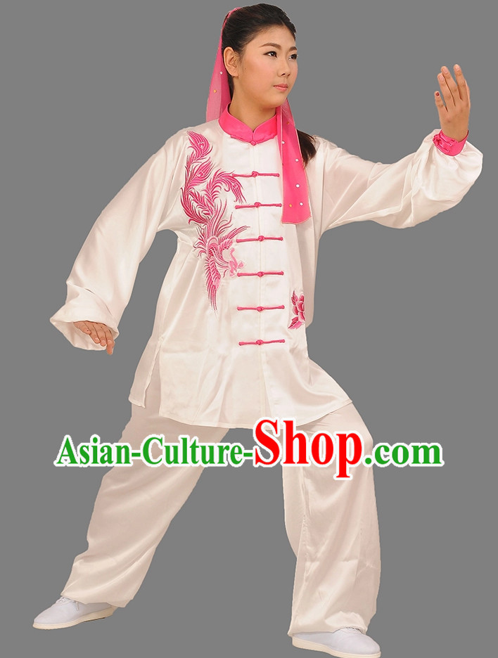 Phoenix Embroidery Wing Chun Martial Arts Uniforms for Adults or Kids