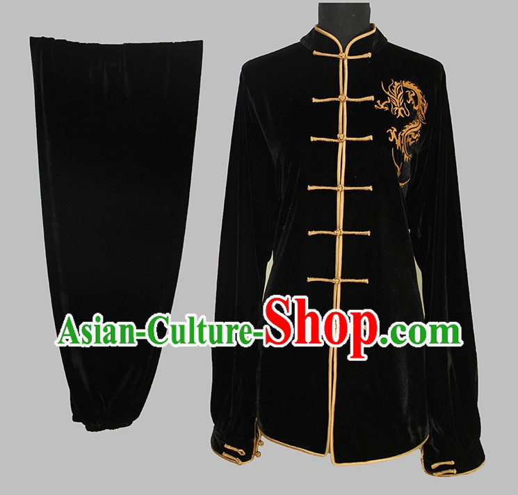 Dragon Embroidery Martial Arts Uniform Complete Set for Adults or Kids