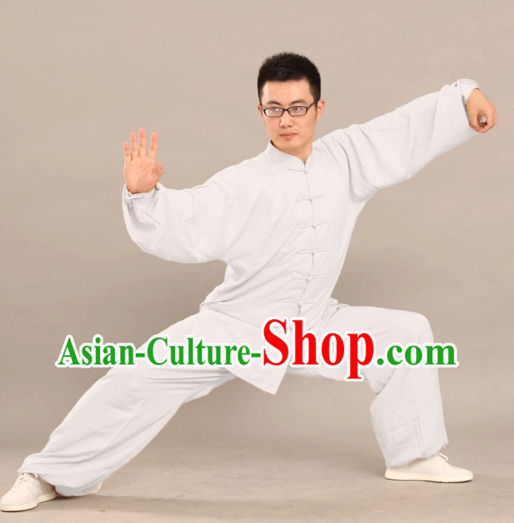 Pure White Cotton Uniform Complete Set for Adults or Kids