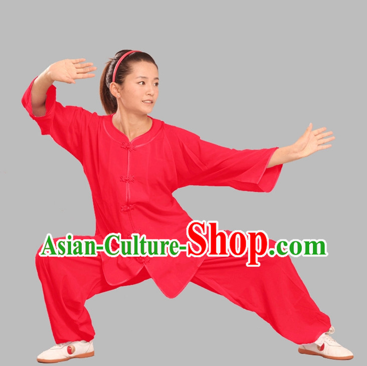 Summer Wear Tencel Kung Fu Uniform Complete Set for Adults or Kids