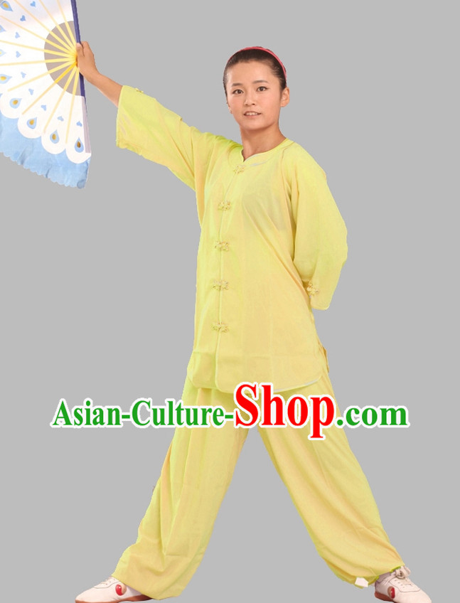Top Tencel Kung Fu Clothes Complete Set for Adults or Kids