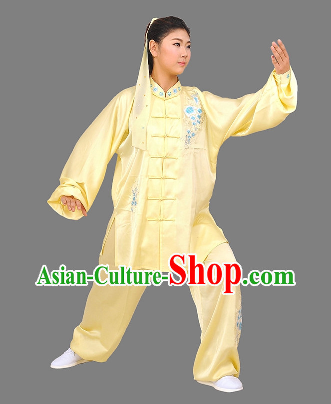 Summer Wear Light Yellow Martial Arts Suits