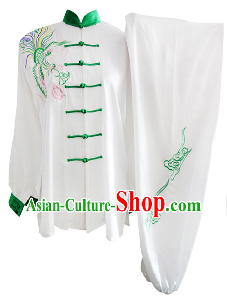 Supreme Long Sleeves Dragon Embroidery Martial Arts Championship Costumes