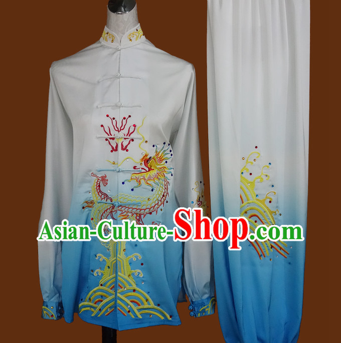 Kung Fu Dragon Embroidered Uniforms Training Kung Fu Costume Kung Fu Class