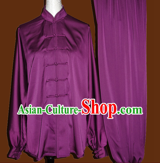 Tradtiional Purple Tai Chi Chuan Practice Suit
