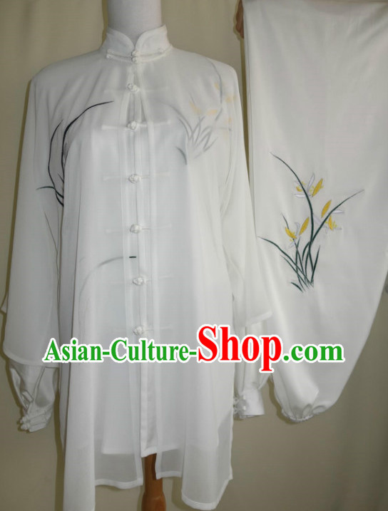 Tradtiional Martial Arts Orchid Embroidery Championshiop Suit