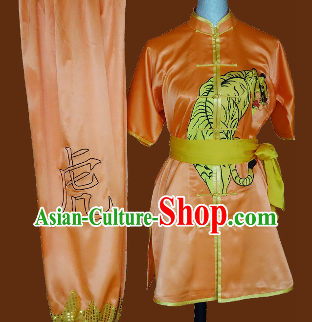 Tradtiional Martial Arts Tiger Embroidery Championshiop Winner Suit