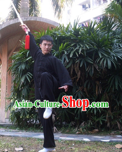 Black Aikido Uniform Uniforms Judo Uniform Clothing