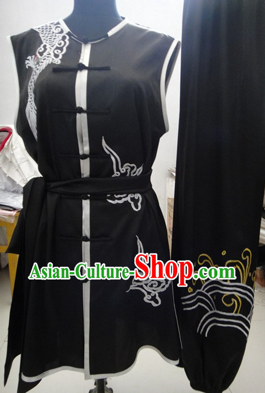 Tradtiional Black Southern Fist Competition Suit