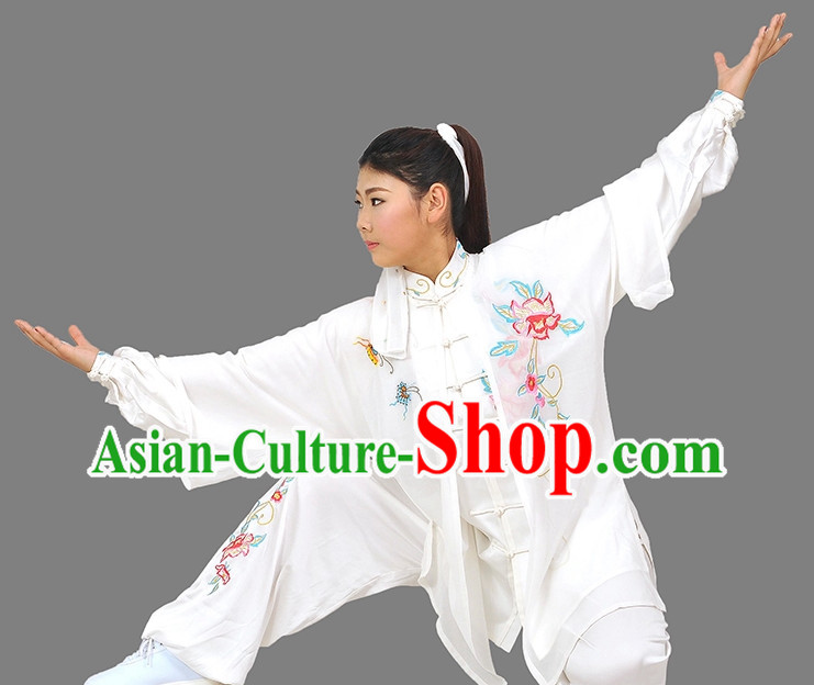 Tradtiional White Tai Chi Chuan Competition Suit