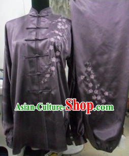 Top Flower Embroidered Tai Ji Competition Championship Suit