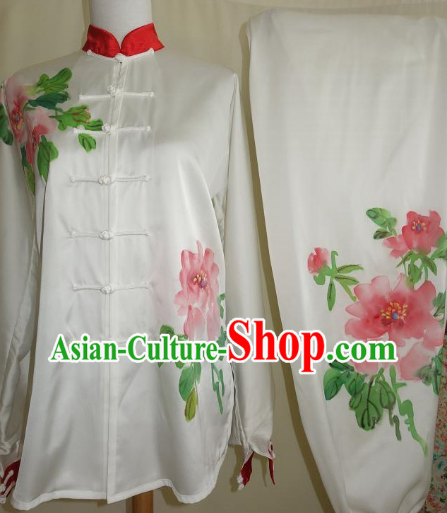 Top White Tai Ji Competition Championship Suits