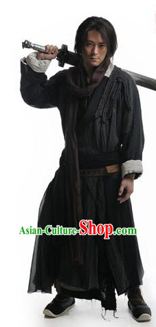 Chinese Ancient Swordsmen Costumes Complete Set for Men