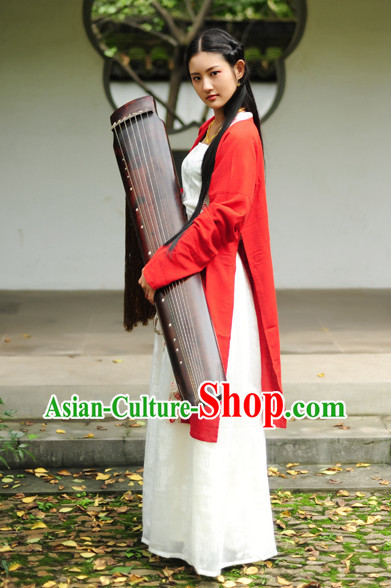 Top Chinese Musician Performance Hanfu Dress Complete Set for Women
