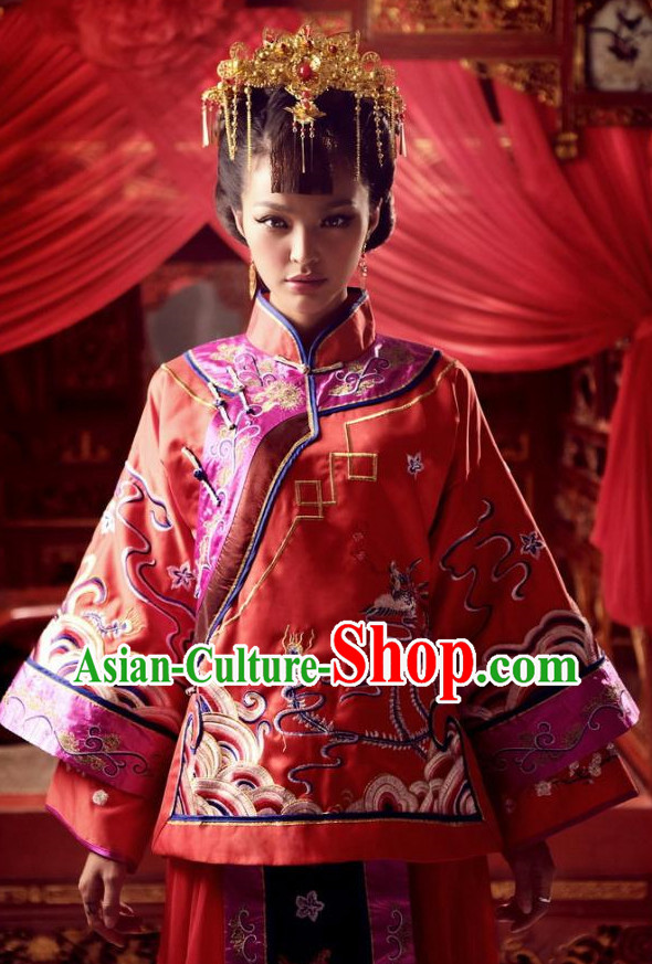 China Wedding Dress Carnival Costumes Dance Costumes Traditional Costumes