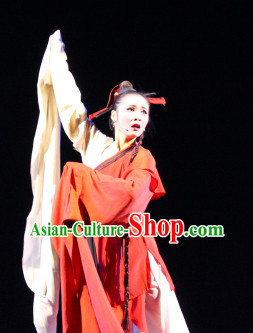 China Water Sleeves Carnival Costumes Dance Costumes Traditional Costumes