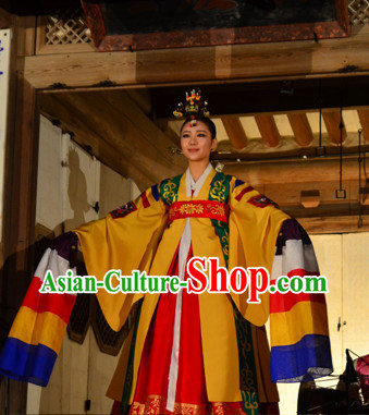 Korean Palace Hanbok Dance Costumes Carnival Costumes Traditional Costumes for Women