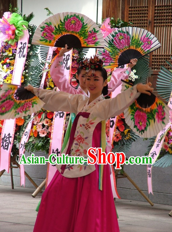 Korean Fan Dancing Costumes Carnival Costumes Traditional Costumes for Women