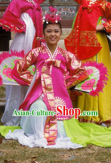 Korean Ancient Hanbok Fan Costumes Clothes Korean Clothing online