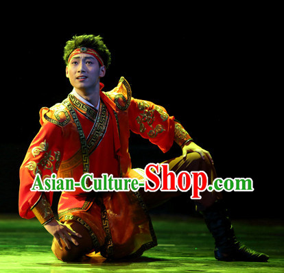 Chinese Mongolian Carnival Costumes Dance Costumes Traditional Costumes for Men