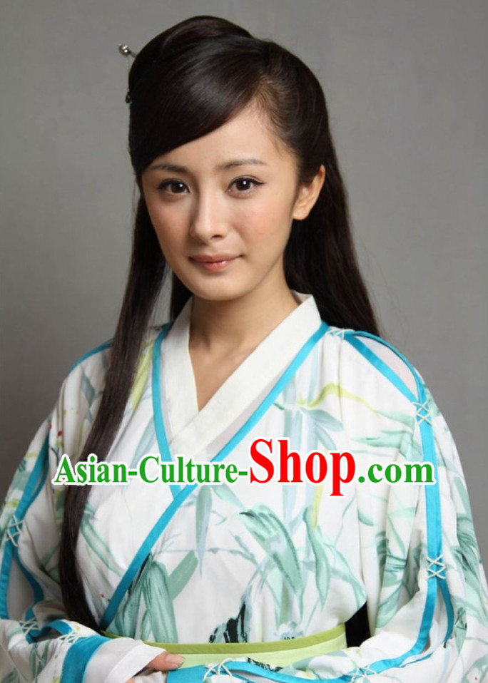 ChineseTraditional Swordswomen Long Black Wig