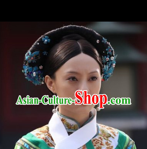 Asian Opera Stage Performance Empress Wig and Hair Jewellry