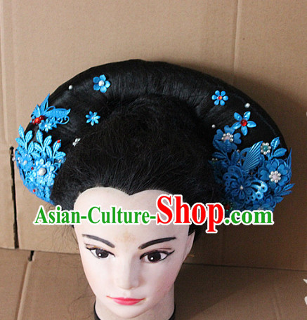 Top Chinese Qing Dynasty Empress Hair Accessories Headpieces Hair Combs Jewellery Complete Set