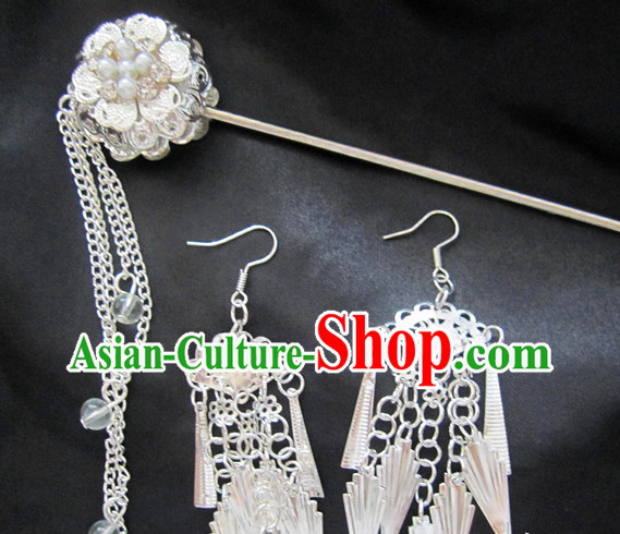 Top Chinese Hair Accessories Headpieces Hair Combs Jewellery and Earrings Complete Set