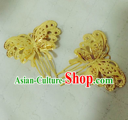 Chinese Traditional Butterfly Hair Clips