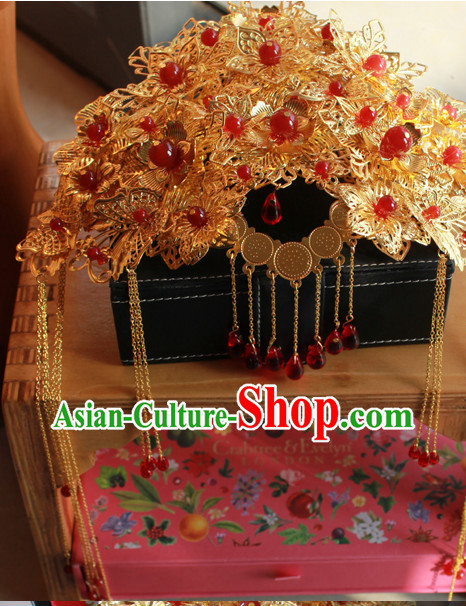 Chinese Traditional Handmade Bridal Phoenix Crown