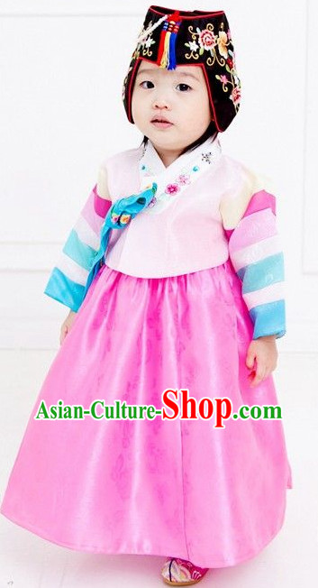 Korean Fashion Hanbok Traditional Dresses for Kids