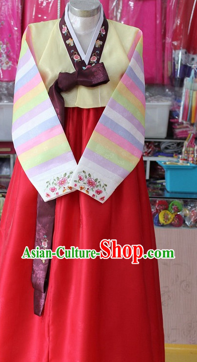 Traditional Korean Apparels Tops Skirt Clothes for Women