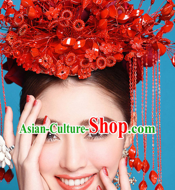 Chinese Bridal Wedding Hair Accessories Hat