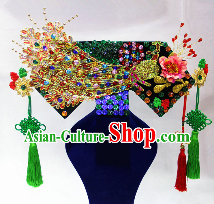China Princess Phoenix Hat Bridal Wedding Hair Accessories Crown