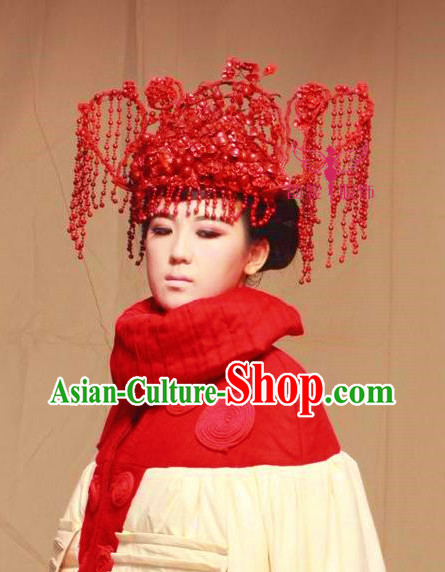 Asian Bridal Wedding Hair Accessories Phoenix Hat
