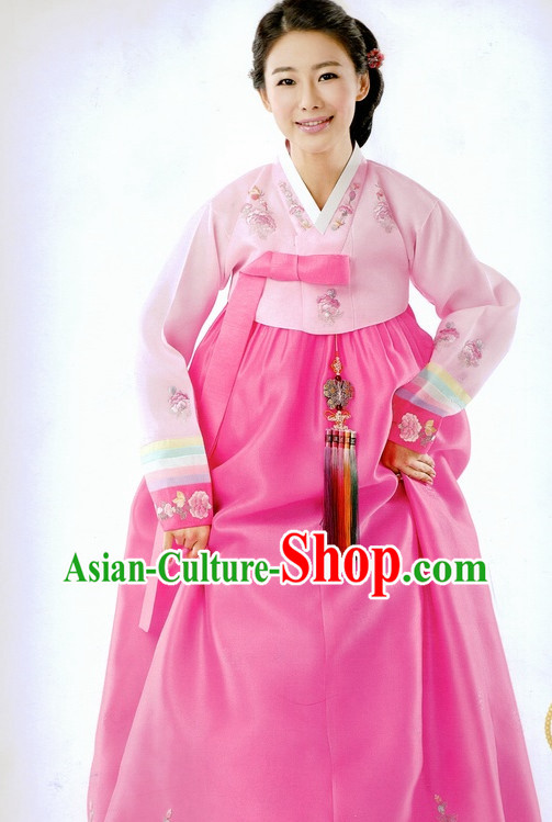 Korean Traditional Wedding Dress Ceremonial Costumes for Women