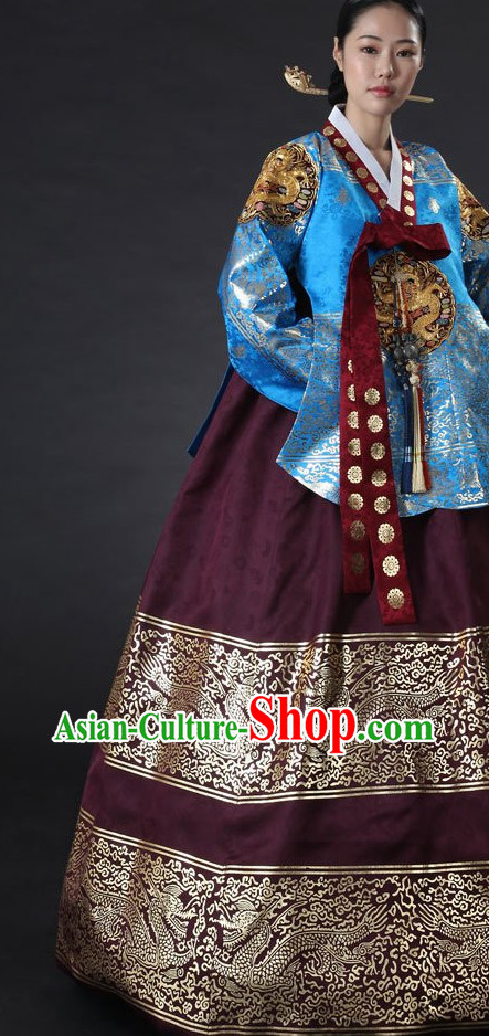 Dangui Korean Royal Costumes Traditional Korean Queen Princess Ceremony Costumes for Women