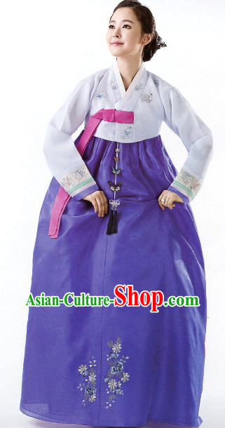 Korean Wedding Ceremonial Dresses for Brides