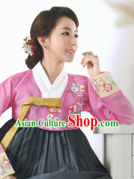 Korean Traditional Official Female Hanbok Clothes
