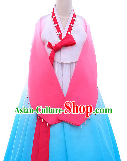 Korean Traditional  Hanbok Dance Costumes