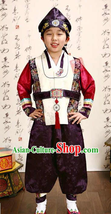 Traditional Korean Clothing Custom Made Boys Hanbok for Birthday Party Halloween